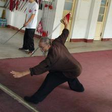 tanglang jian trening w Yantai Wuguan