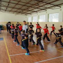 Trening zhan zhuang grupa dzieci