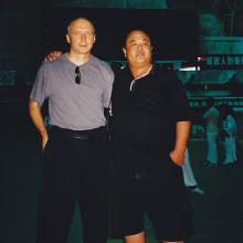 Z mistrzem Wang Xiuyuan Weihai 2000