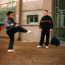 Shifu Kang demonstruje technikę
